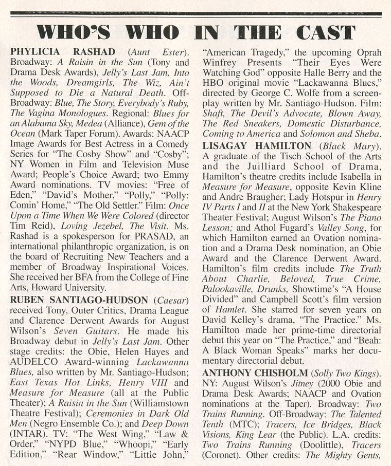 Look Back at the Very First Playbill Bios of 11 Broadway Stars